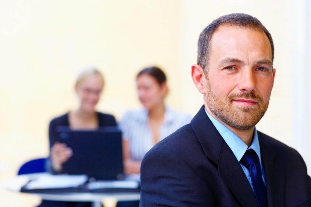 handsome business leader